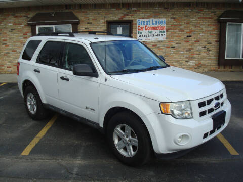 2010 Ford Escape Hybrid for sale at Great Lakes Car Connection in Metamora MI