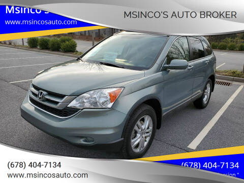 2010 Honda CR-V for sale at Msinco's Auto Broker in Snellville GA