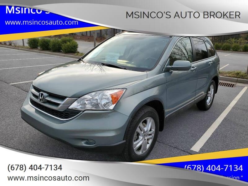 2010 Honda CR-V for sale at Msinco's Auto Broker in Snellville GA