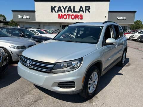 2015 Volkswagen Tiguan for sale at KAYALAR MOTORS in Houston TX