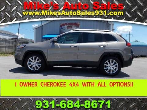 2017 Jeep Cherokee for sale at Mike's Auto Sales in Shelbyville TN