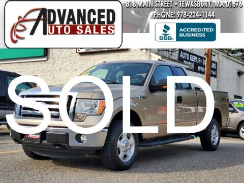 2011 Ford F-150 for sale at Advanced Auto Sales in Tewksbury MA