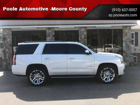 2019 GMC Yukon for sale at Poole Automotive -Moore County in Aberdeen NC
