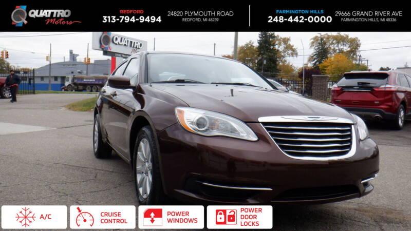 2013 Chrysler 200 for sale at Quattro Motors 2 in Farmington Hills MI