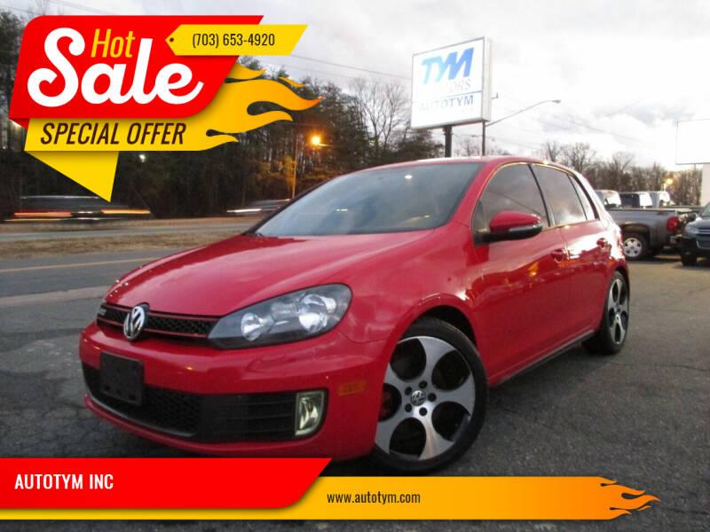 2012 Volkswagen GTI for sale at AUTOTYM INC in Fredericksburg VA