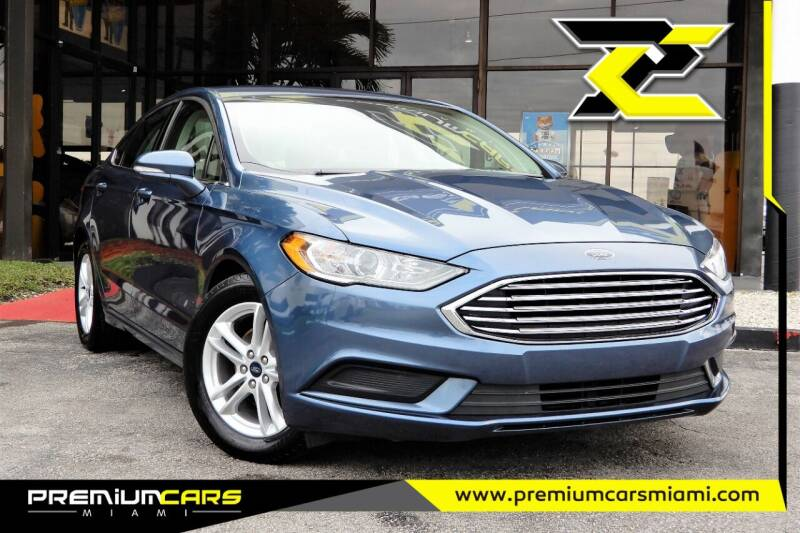 2018 Ford Fusion for sale at Premium Cars of Miami in Miami FL