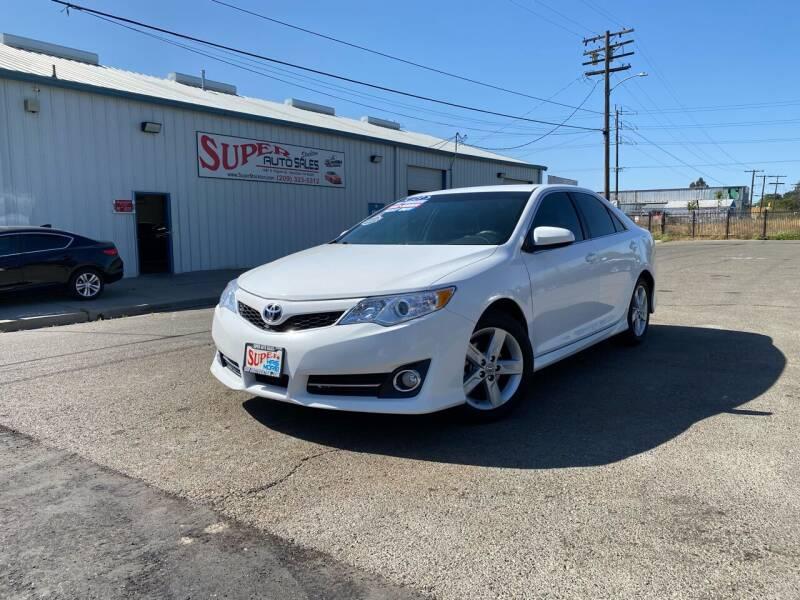 2013 Toyota Camry for sale at SUPER AUTO SALES STOCKTON in Stockton CA