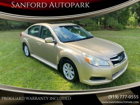 2010 Subaru Legacy for sale at Sanford Autopark in Sanford NC