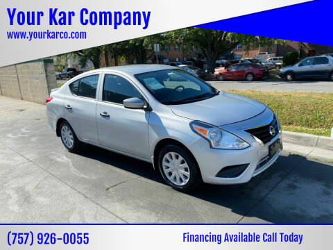 2018 Nissan Versa for sale at Your Kar Company in Norfolk VA
