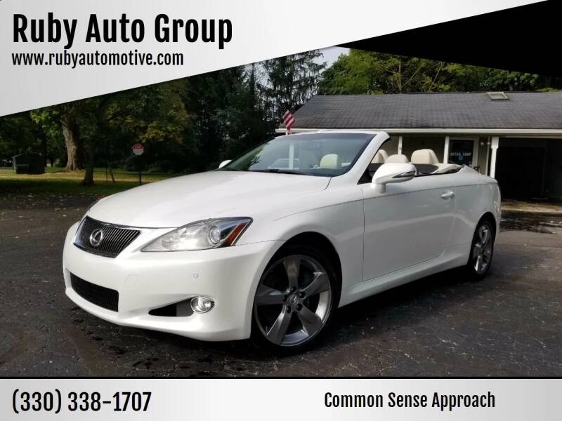 2010 Lexus IS 350C for sale at Ruby Auto Group in Hudson OH