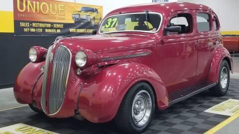 1937 Plymouth Sedan for sale at UNIQUE SPECIALTY & CLASSICS in Mankato MN