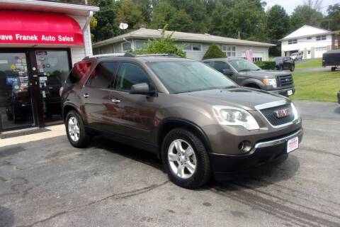 2011 GMC Acadia for sale at Dave Franek Automotive in Wantage NJ
