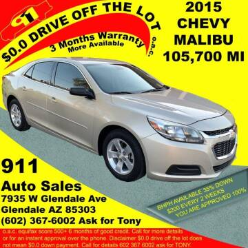 2015 Chevrolet Malibu for sale at 911 AUTO SALES LLC in Glendale AZ