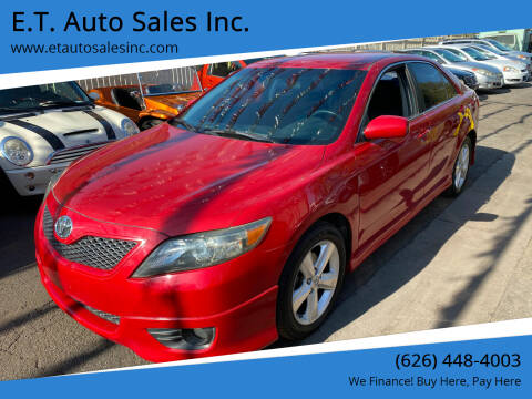 2011 Toyota Camry for sale at E.T. Auto Sales Inc. in El Monte CA