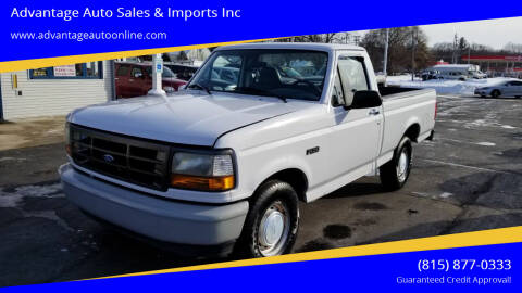 1996 Ford F-150 for sale at Advantage Auto Sales & Imports Inc in Loves Park IL