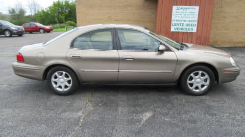 2003 Mercury Sable for sale at LENTZ USED VEHICLES INC in Waldo WI