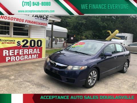 2009 Honda Civic for sale at Acceptance Auto Sales Douglasville in Douglasville GA