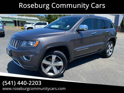 2015 Jeep Grand Cherokee for sale at Roseburg Community Cars in Roseburg OR