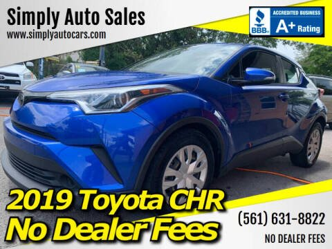2019 Toyota C-HR for sale at Simply Auto Sales in Palm Beach Gardens FL
