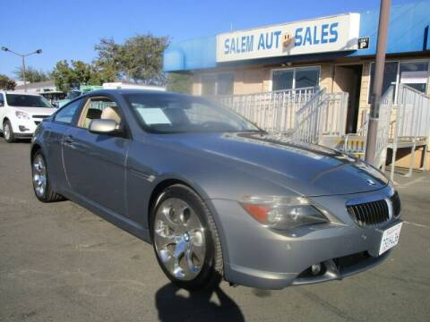 2005 BMW 6 Series for sale at Salem Auto Sales in Sacramento CA