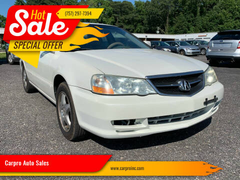2003 Acura TL for sale at Carpro Auto Sales in Chesapeake VA