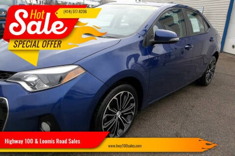 2015 Toyota Corolla for sale at Highway 100 & Loomis Road Sales in Franklin WI