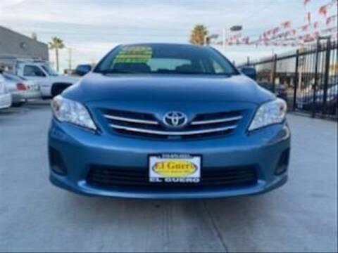 2013 Toyota Corolla for sale at El Guero Auto Sale in Hawthorne CA
