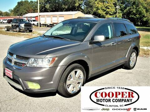 2013 Dodge Journey for sale at Cooper Motor Company in Clinton SC