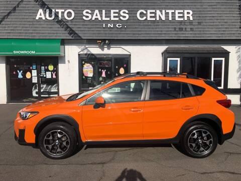 2018 Subaru Crosstrek for sale at Auto Sales Center Inc in Holyoke MA