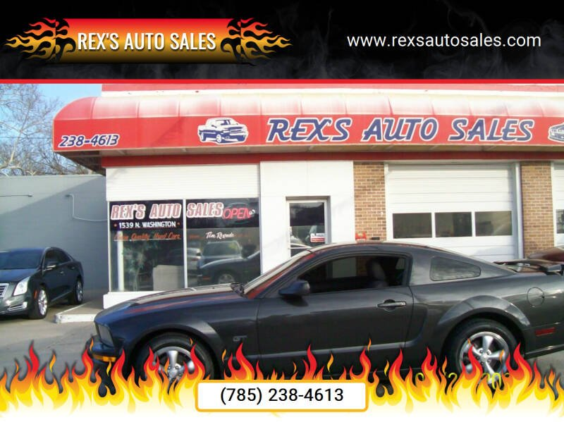 2008 Ford Mustang for sale at Rex's Auto Sales in Junction City KS