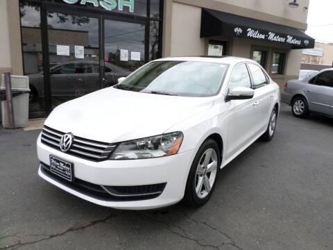 2013 Volkswagen Passat for sale at Wilson-Maturo Motors in New Haven Ct CT