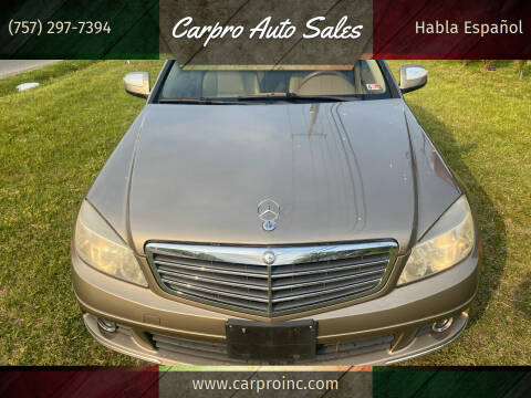 2008 Mercedes-Benz C-Class for sale at Carpro Auto Sales in Chesapeake VA