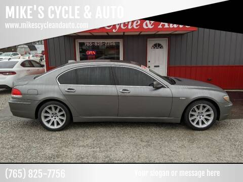 2006 BMW 7 Series for sale at MIKE'S CYCLE & AUTO in Connersville IN