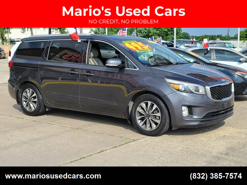2015 Kia Sedona for sale at Mario's Used Cars in Houston TX