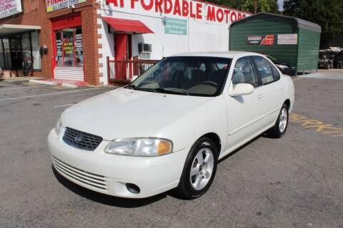 2000 Nissan Sentra for sale at AFFORDABLE MOTORS INC in Winston Salem NC