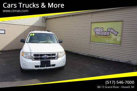 2008 Ford Escape for sale at Cars Trucks & More in Howell MI