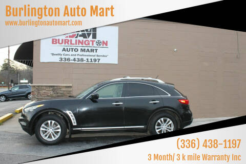 2010 Infiniti FX35 for sale at Burlington Auto Mart in Burlington NC