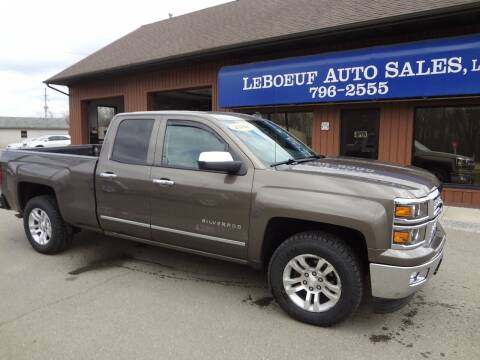 2014 Chevrolet Silverado 1500 for sale at LeBoeuf Auto Sales in Waterford PA
