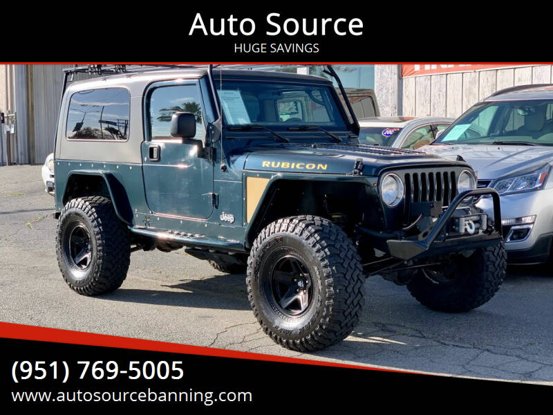 2005 Jeep Wrangler for sale at Auto Source in Banning CA
