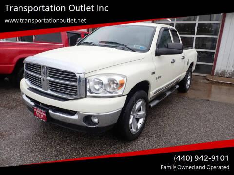 2008 Dodge Ram Pickup 1500 for sale at Transportation Outlet Inc in Eastlake OH