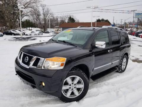 2013 Nissan Armada for sale at Cedar Auto Group LLC in Akron OH
