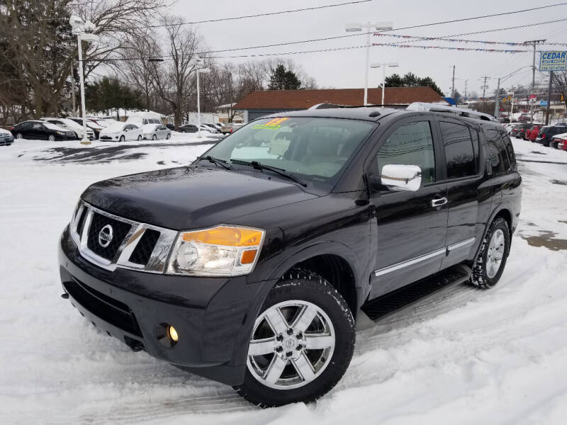 2013 Nissan Armada for sale at Cedar Auto Group LLC in Akron OH
