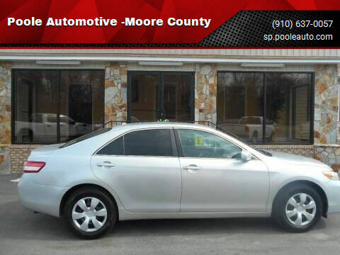 2011 Toyota Camry for sale at Poole Automotive -Moore County in Aberdeen NC