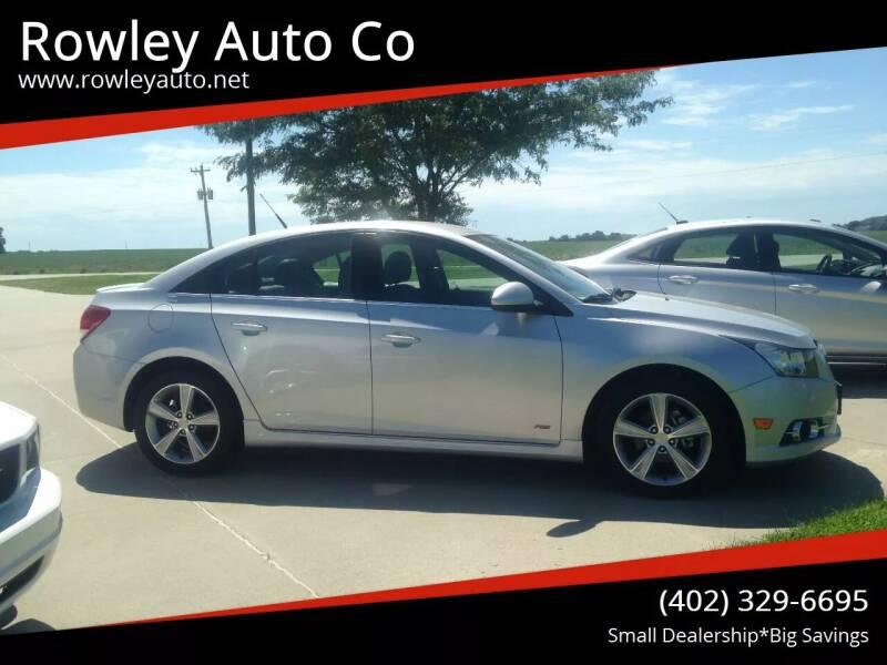 2014 Chevrolet Cruze for sale at Rowley Auto Co in Pierce NE
