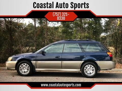 2004 Subaru Outback for sale at Coastal Auto Sports in Chesapeake VA