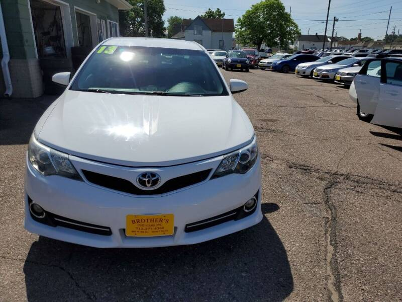 2013 Toyota Camry for sale at Brothers Used Cars Inc in Sioux City IA