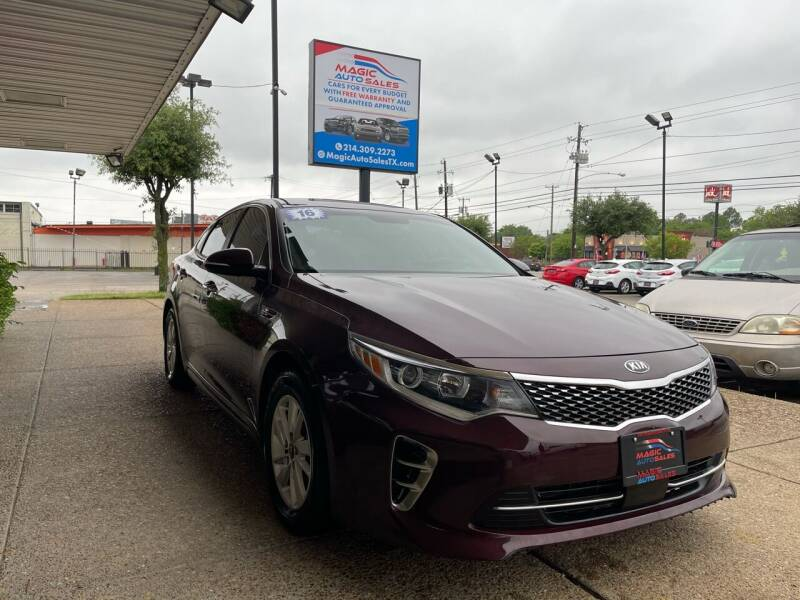 2016 Kia Optima for sale at Magic Auto Sales in Dallas TX