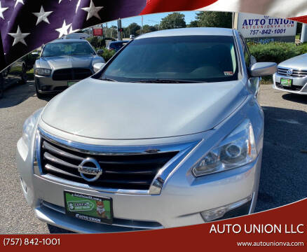2015 Nissan Altima for sale at Auto Union LLC in Virginia Beach VA