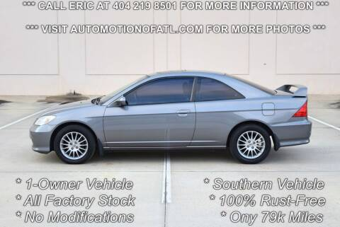 2005 Honda Civic for sale at Automotion Of Atlanta in Conyers GA