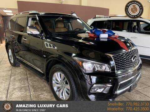 2016 Infiniti QX80 for sale at Amazing Luxury Cars in Snellville GA